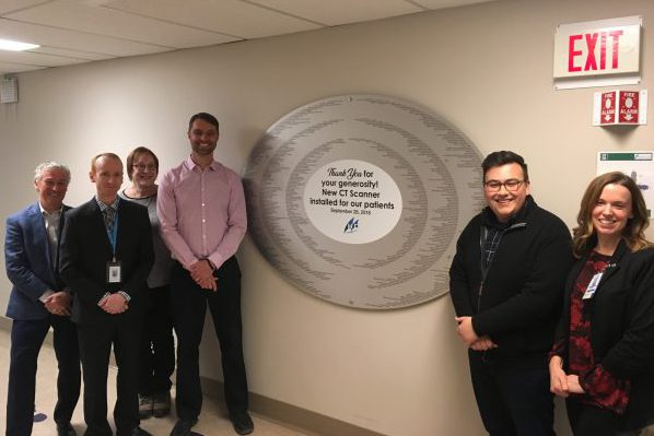 New CT Scanner donor wall