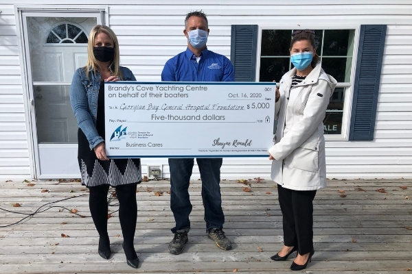 Brandy's Cove Yachting Centre makes $5,000 donation to GBGH