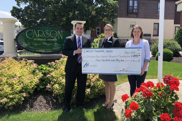 Carson Funeral Home shows big community spirit with donation to GBGH!