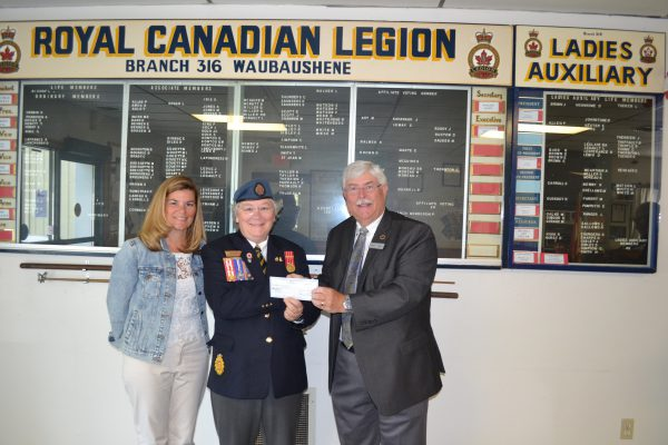Waubaushene Legion gives $500