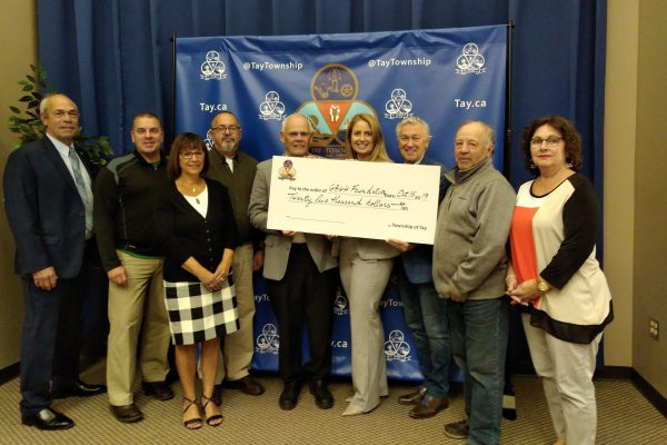 2019 Tay Township Cheque Presentation