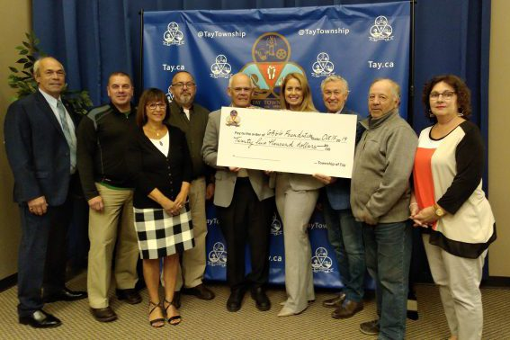 Tay Township Cheque Presentation