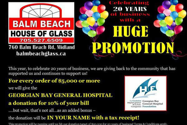 Balm Beach House of Glass Celebrates 20 Years with $20,000!