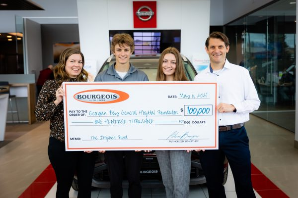 Bourgeois Auto Group makes $100,000 pledge to GBGH!