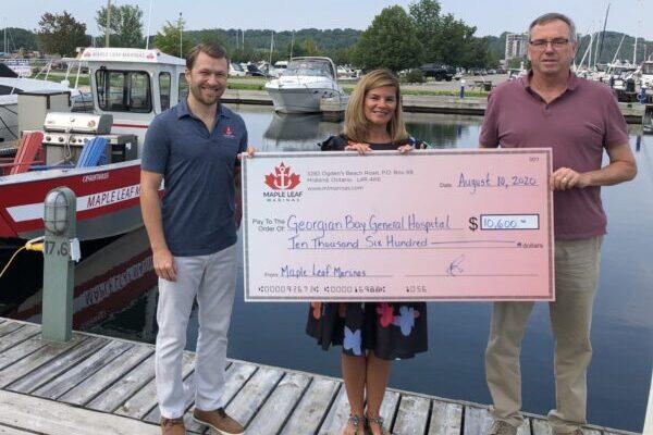 Maple Leaf Marinas pumps $10,000 for GBGH