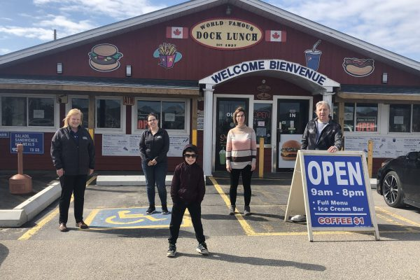 World Famous Dock Lunch Restaurant shows GBGH their Business Cares!