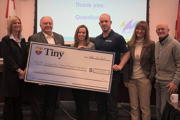 Township of Tiny Cheque Presentation